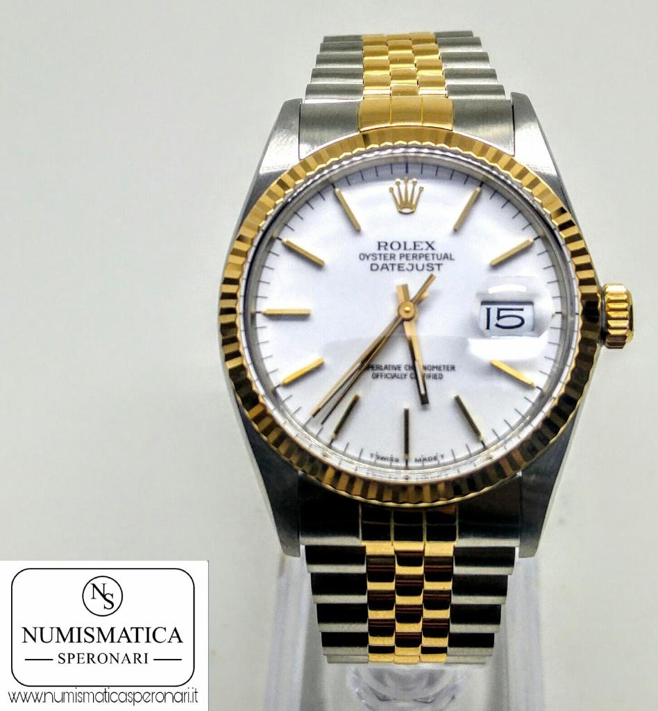 Rolex Datejust 16013 quadrante bianco