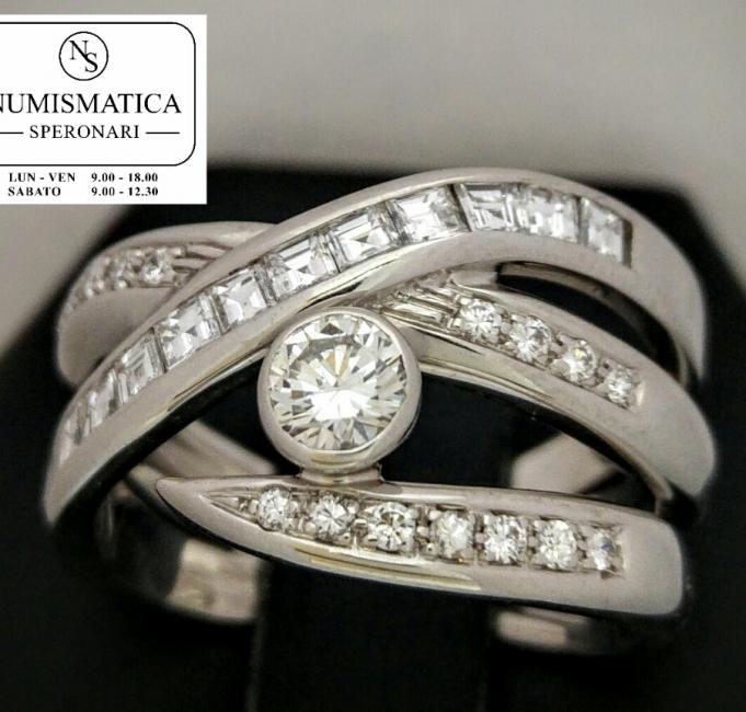 Anello Alfieri & St John oro bianco e diamanti