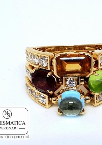 Anello Bulgari con diamanti