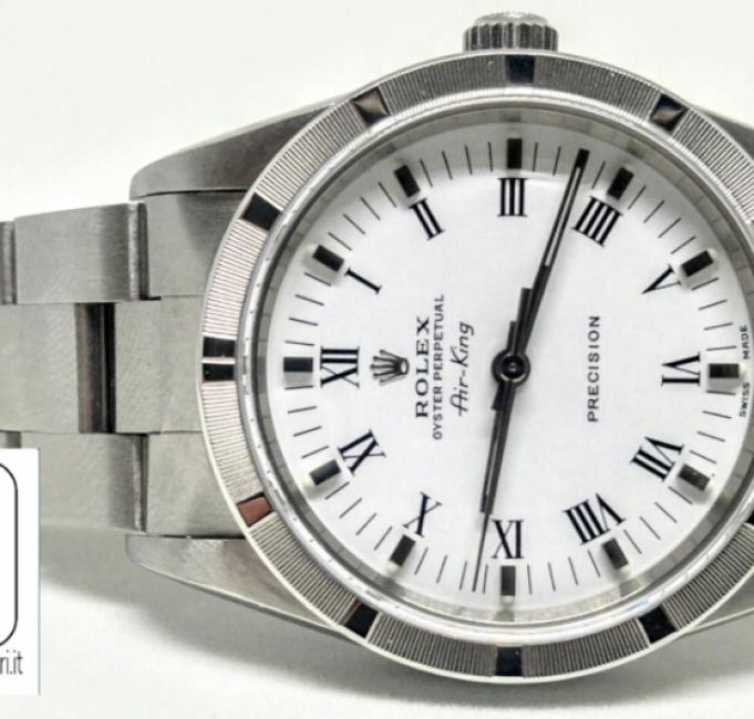 Rolex Air King quadrante bianco