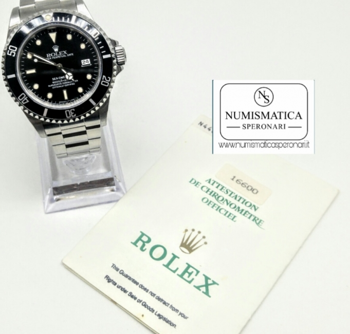 Rolex Sea Dweller con garanzia