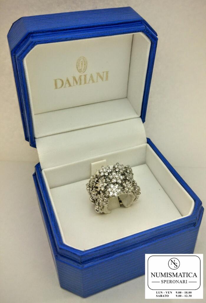 anello diamanti Damiani scatola