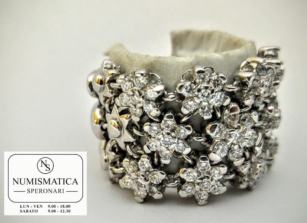 anello diamanti Damiani oro bianco