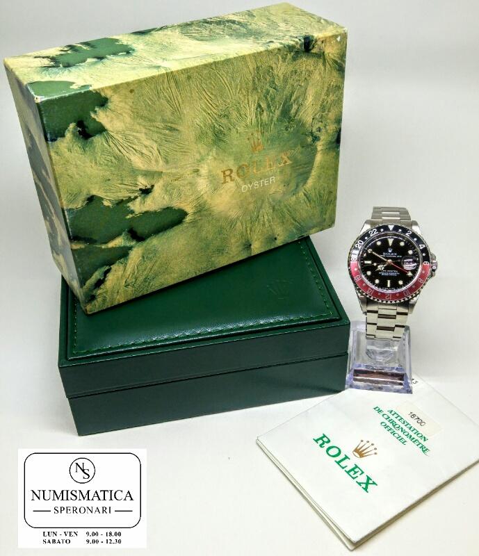 Acquisto orologi usati Rolex GMT Master Scatola e garanzia