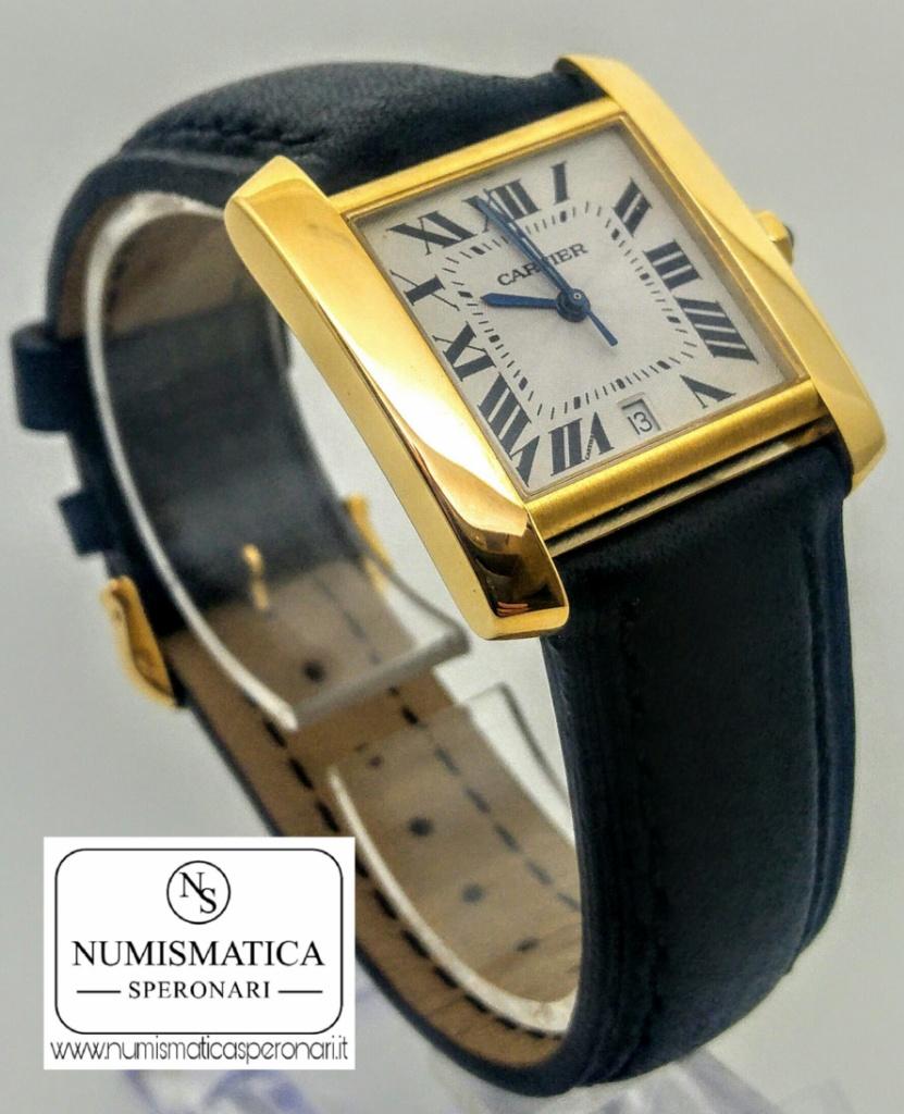 Cartier Tank Francaise oro con scatola e garanzia
