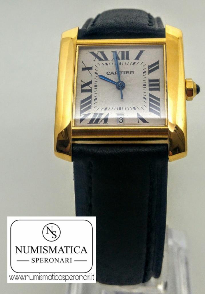 Cartier Tank Francaise Oro, Numismatica Speronari via Speronari 7 Milano, www.numismaticasperonari.it