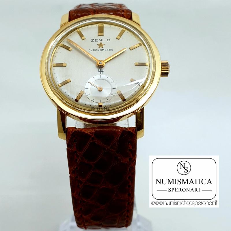Zenith Chronometre oro 18Kt, Numismatica Speronari, via Speronari 7 MIlano.