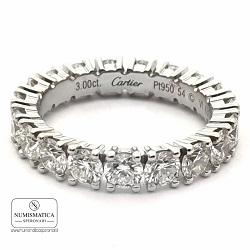 anello cartier platino e diamanti